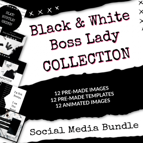 boss lady quotes, social media bundle, done for your content