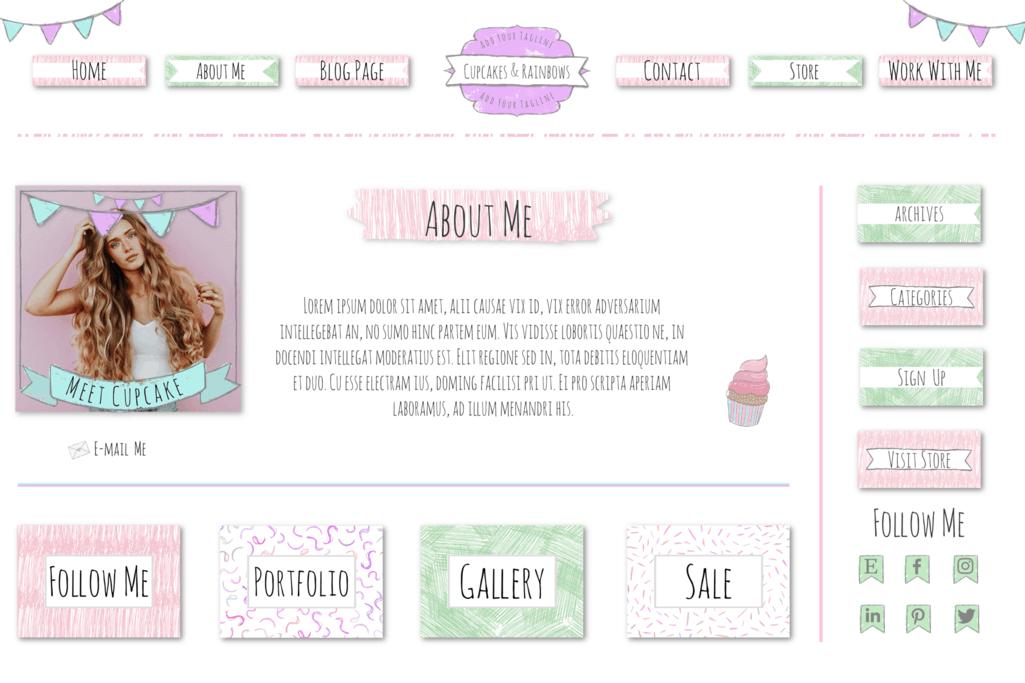 Cupcakes and Rainbows - Full Branding Kit 1
