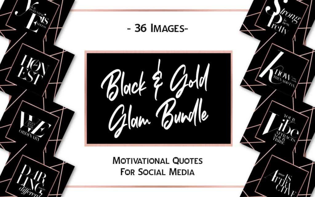 Black & Gold Glam Social Media Bundle 2