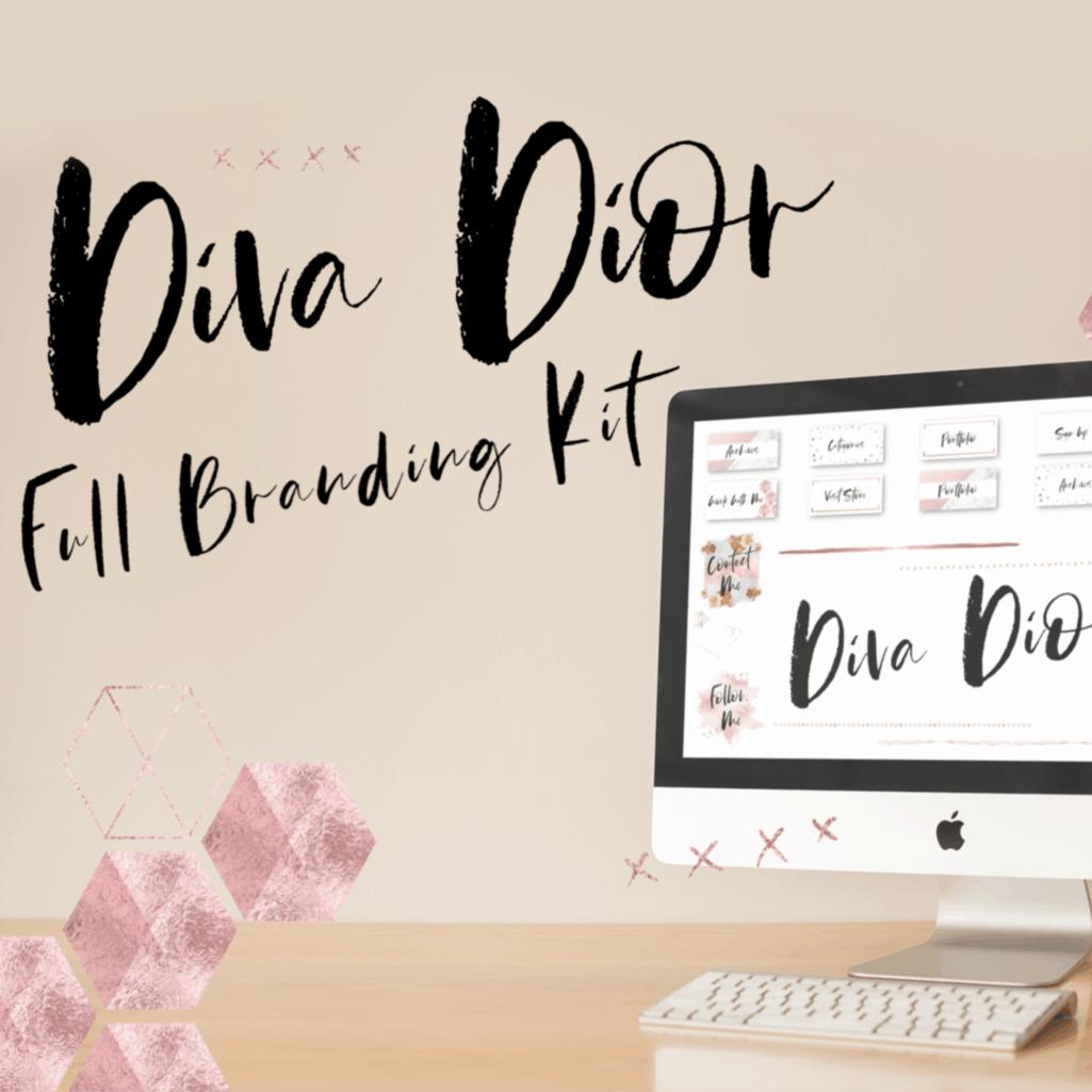 Diva Dior Slide Deck Canva Template - Diva Dior 24
