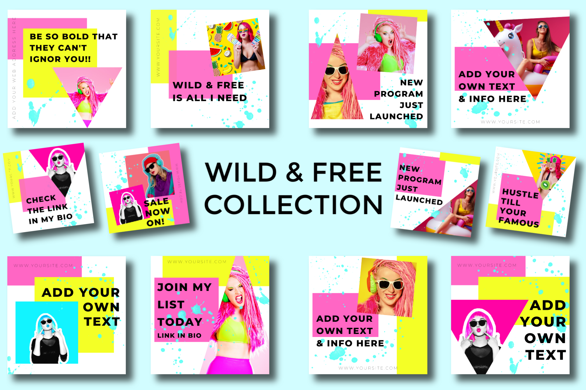 Wild & Free - Canva Ready Social Media Templates 8