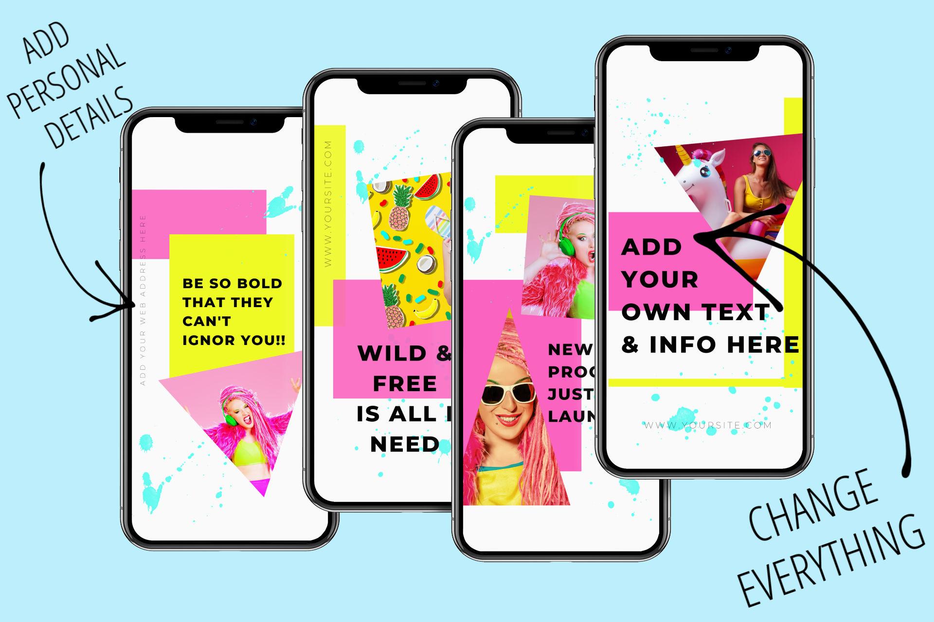 Wild & Free - Canva Ready Social Media Templates 4
