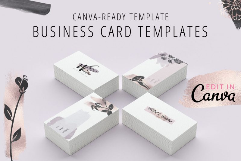 Canva business card template