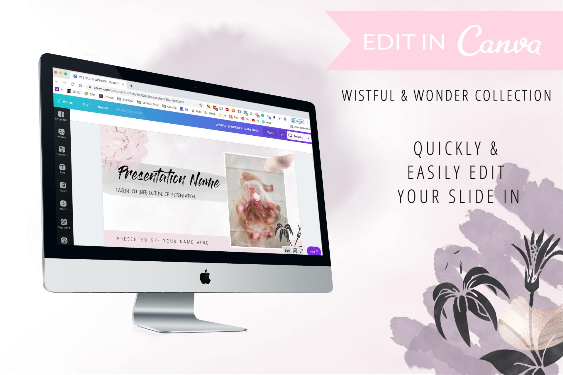 Wistful & Wonder Mega Canva Template Bundle 36