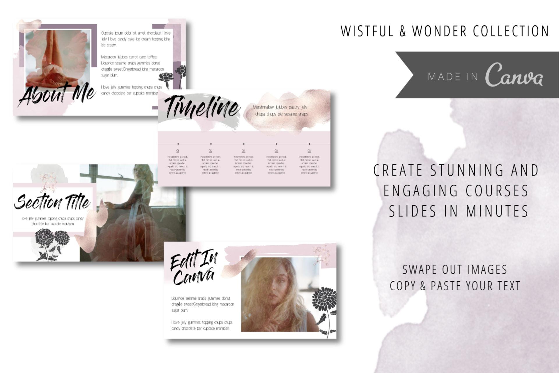 Wistful & Wonder Mega Canva Template Bundle 40