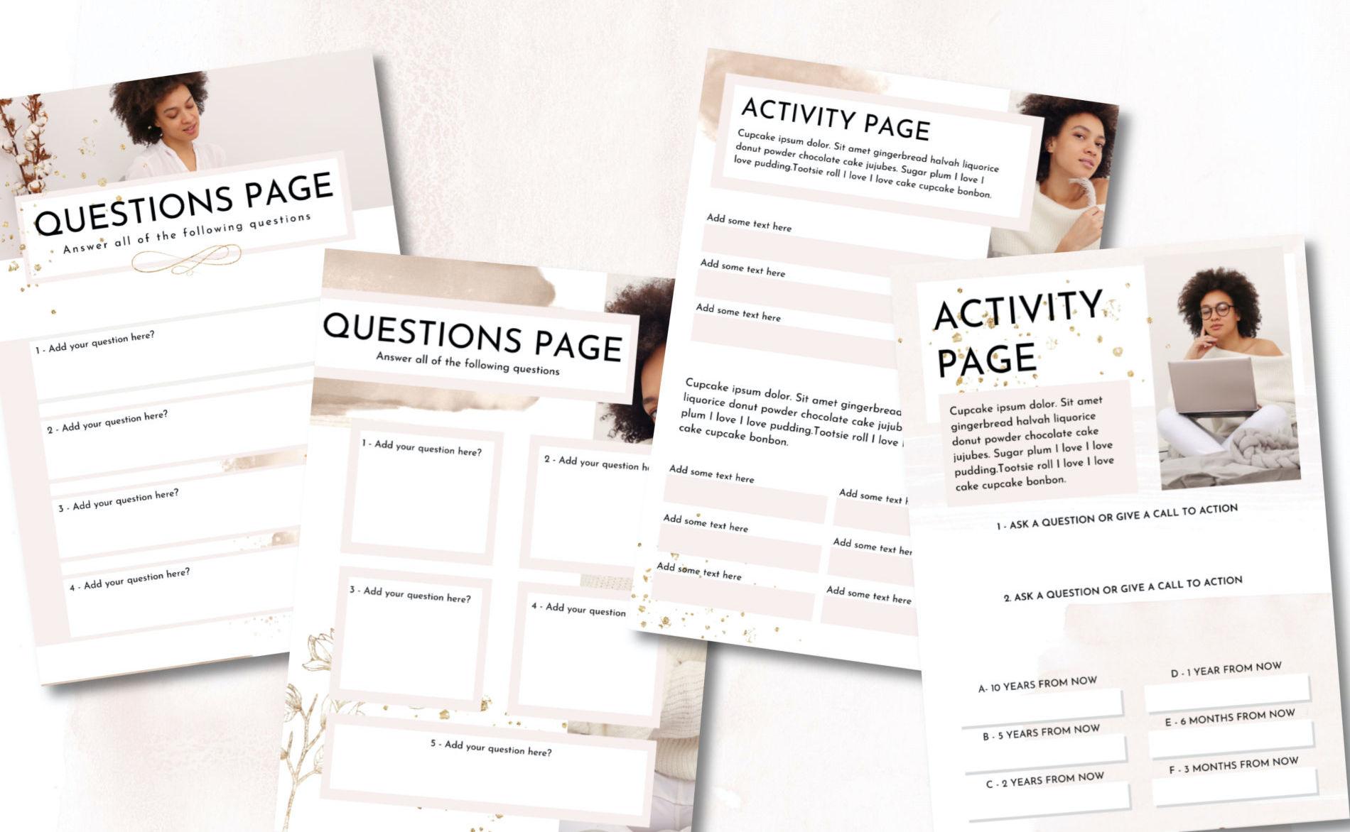 canva workbook templates for sale