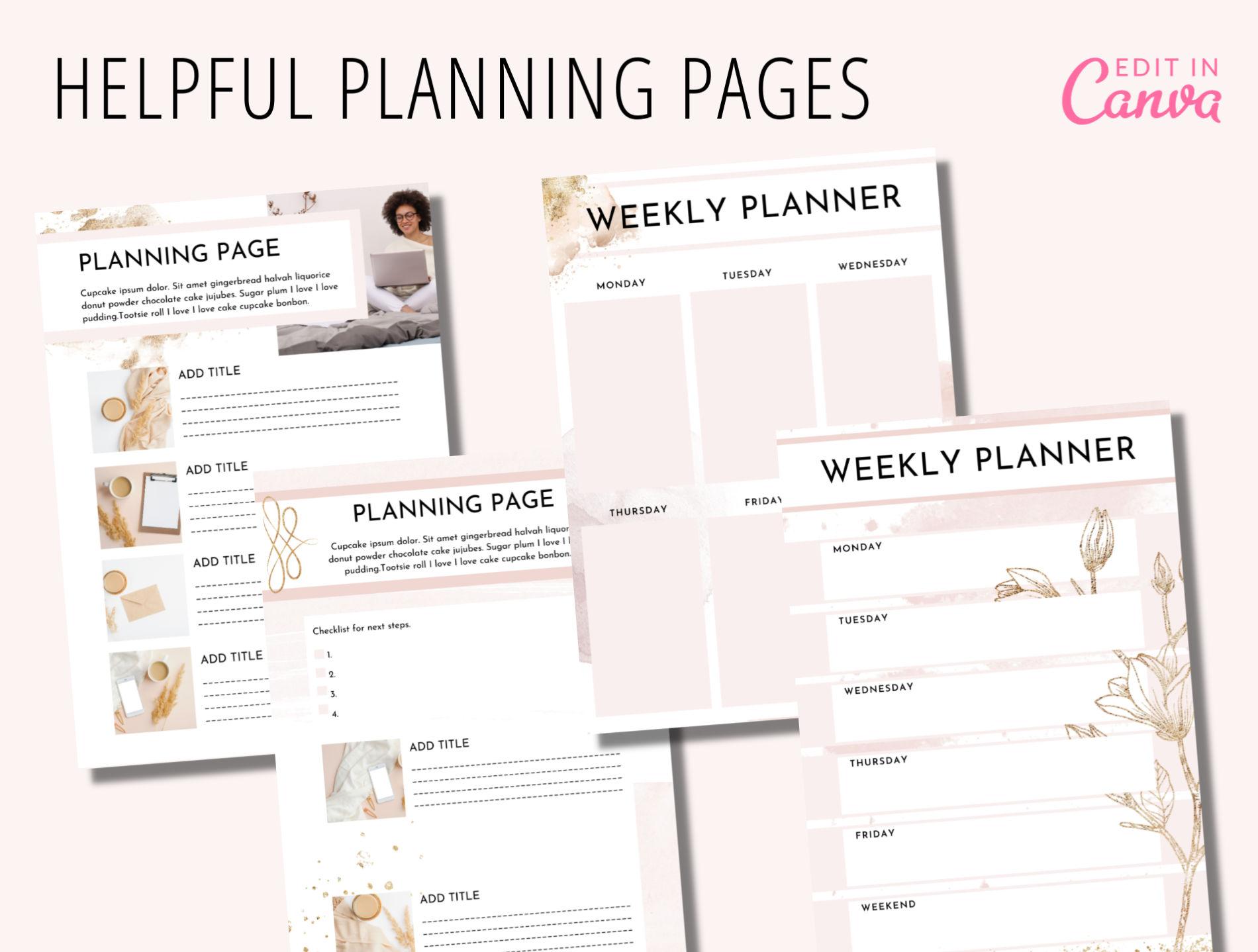 canva course book templates