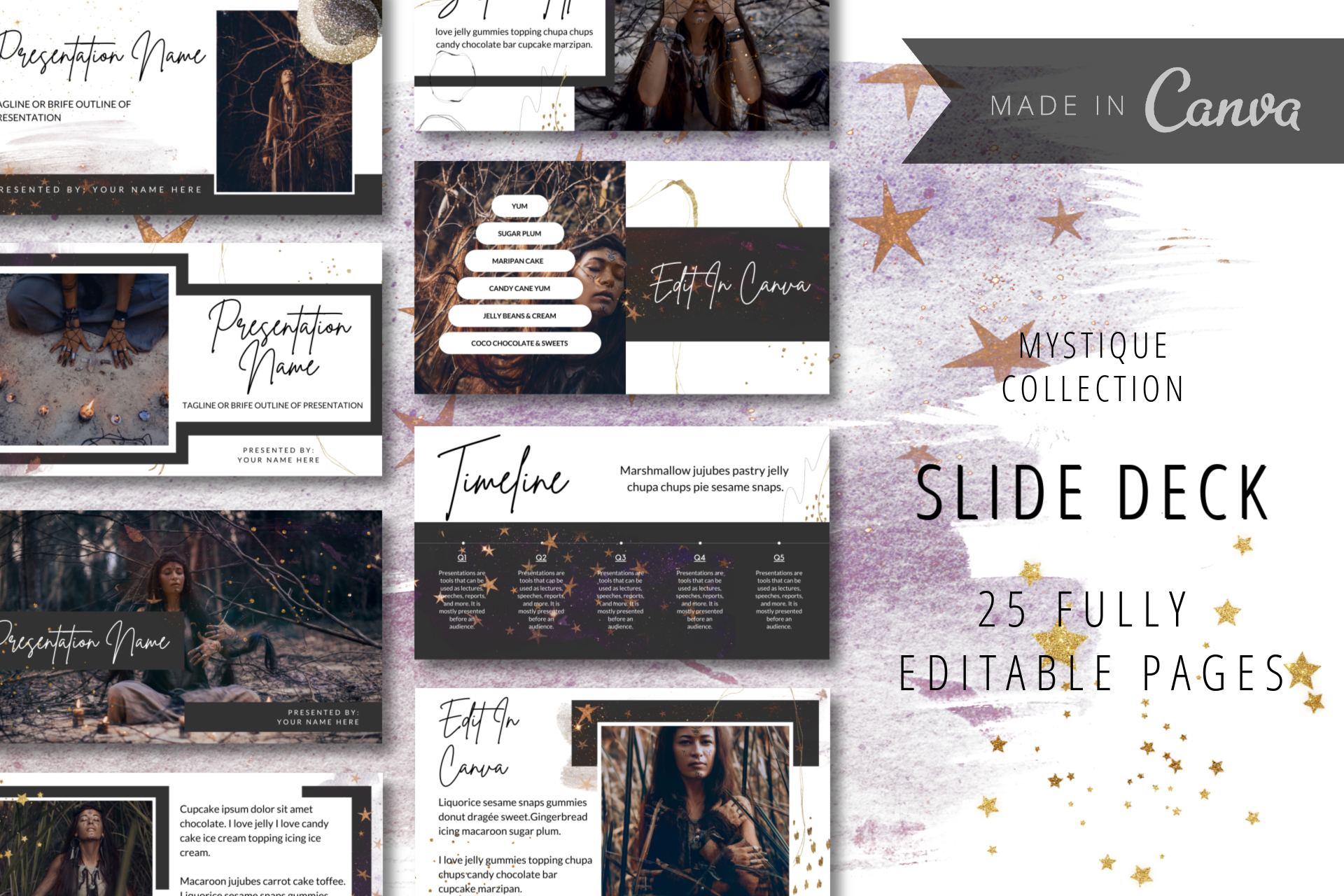 Canva ready slide deck templates