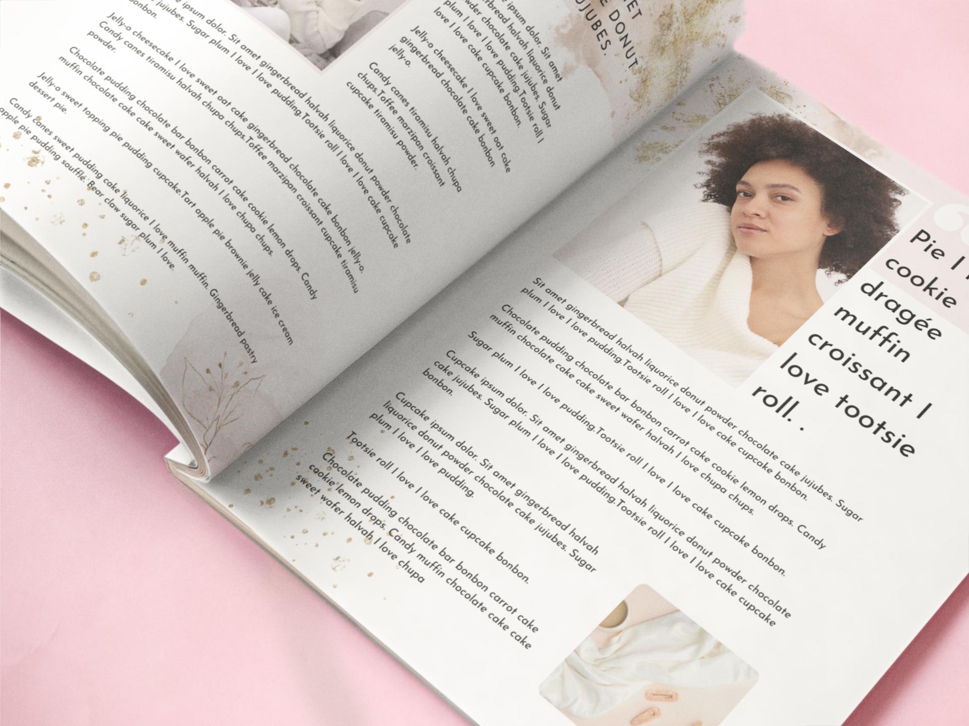 Canva ebook template - beauty blush