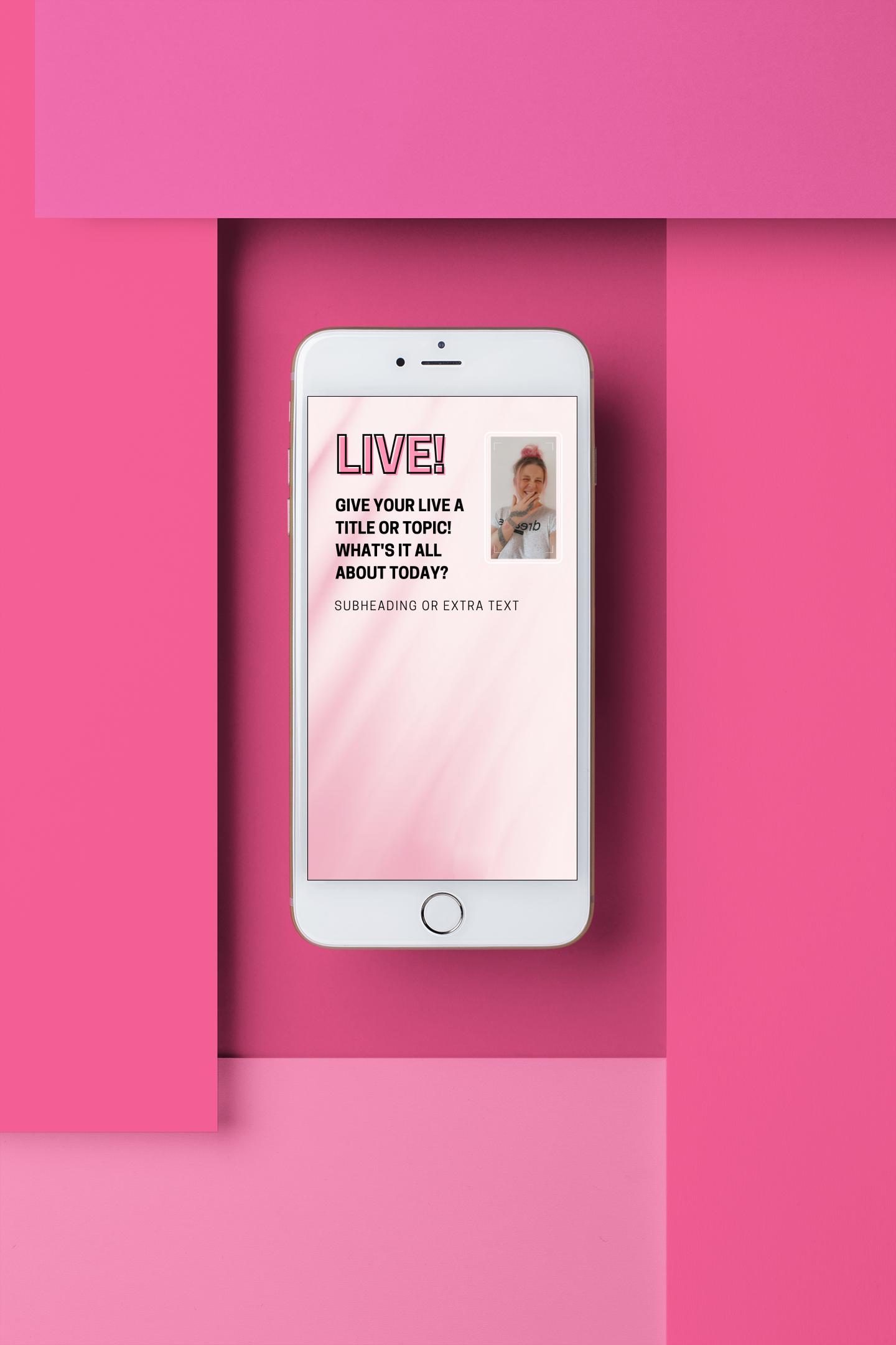 instagram live slide templates