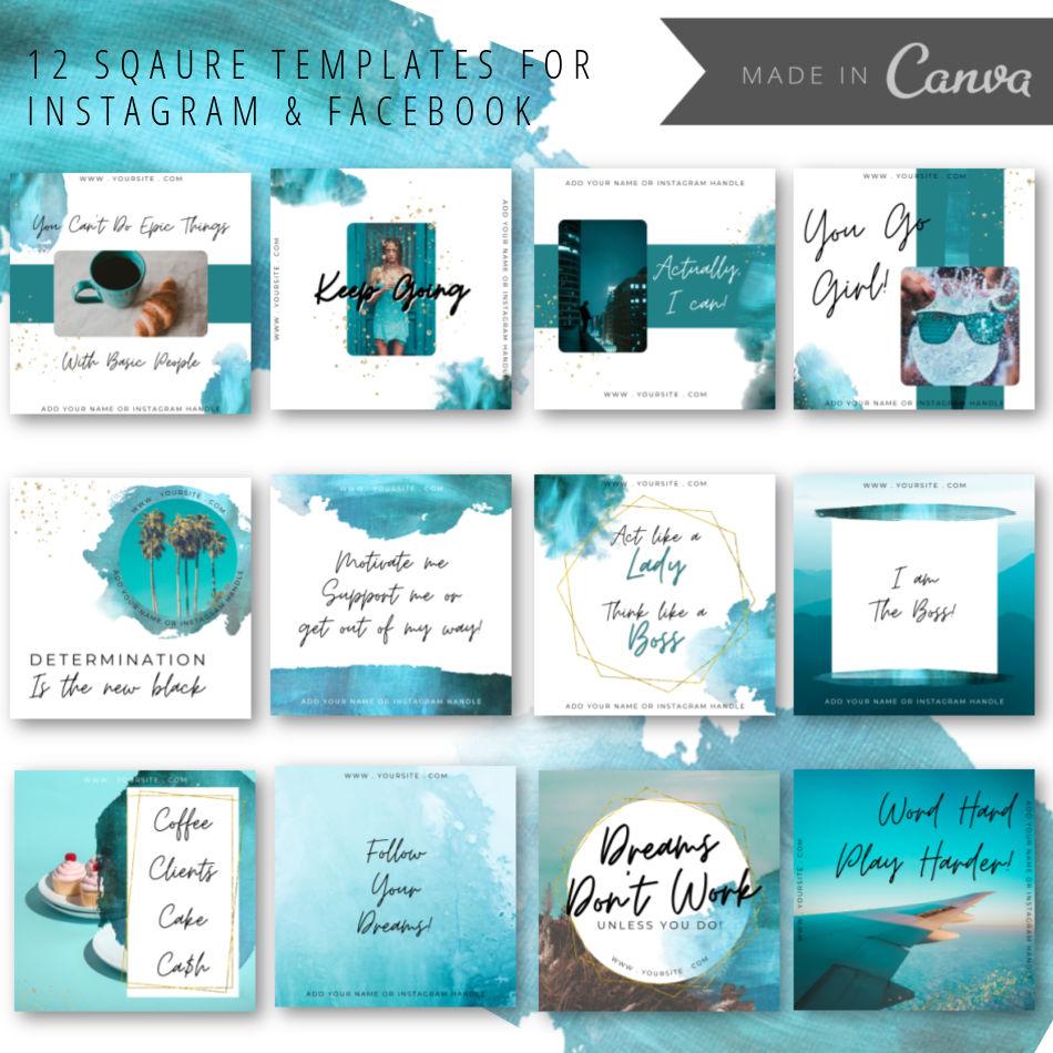 canva social media templates for sale