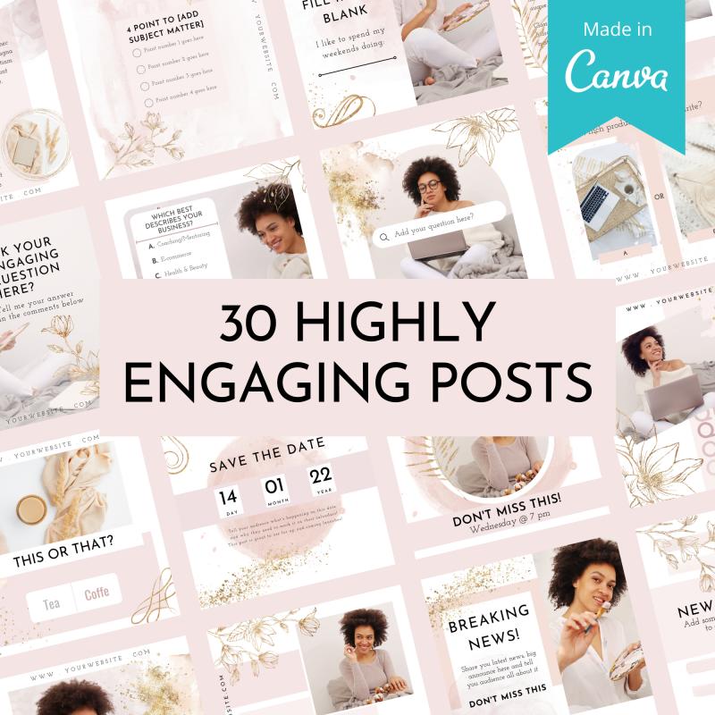 Facebook™ Group Canva Template Bundle - Beauty Blush 3