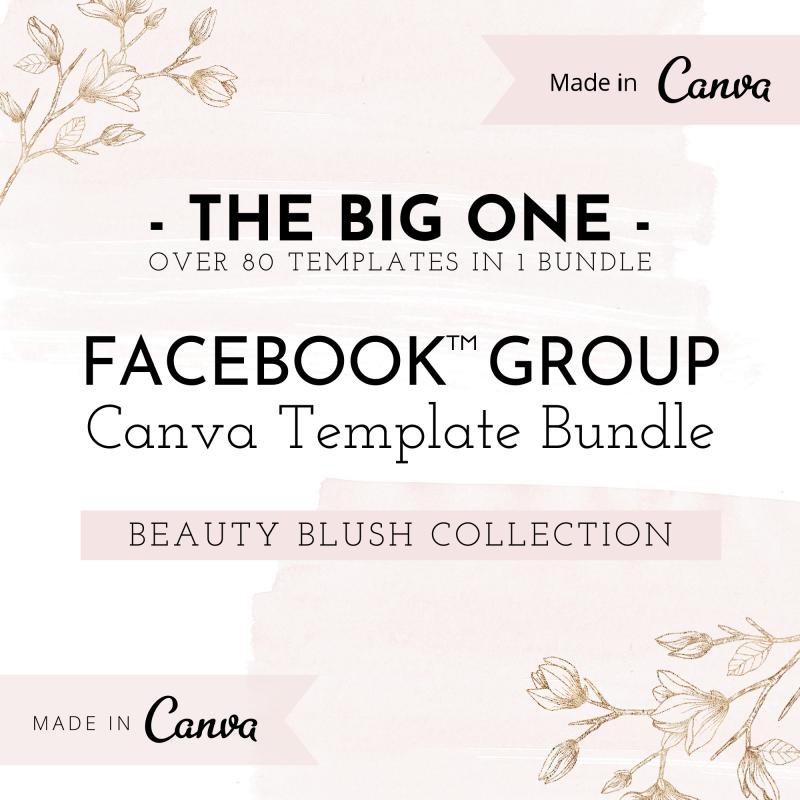 Facebook™ Group Canva Template Bundle - Beauty Blush 1