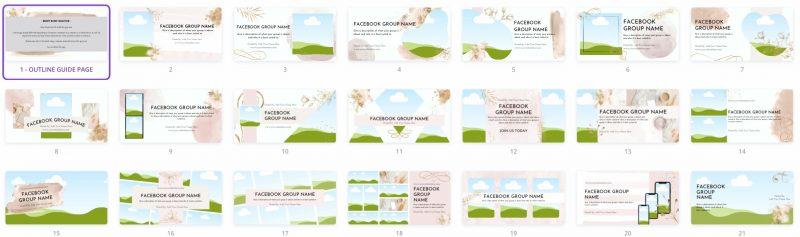 Facebook™ Group Canva Template Bundle - Beauty Blush 5