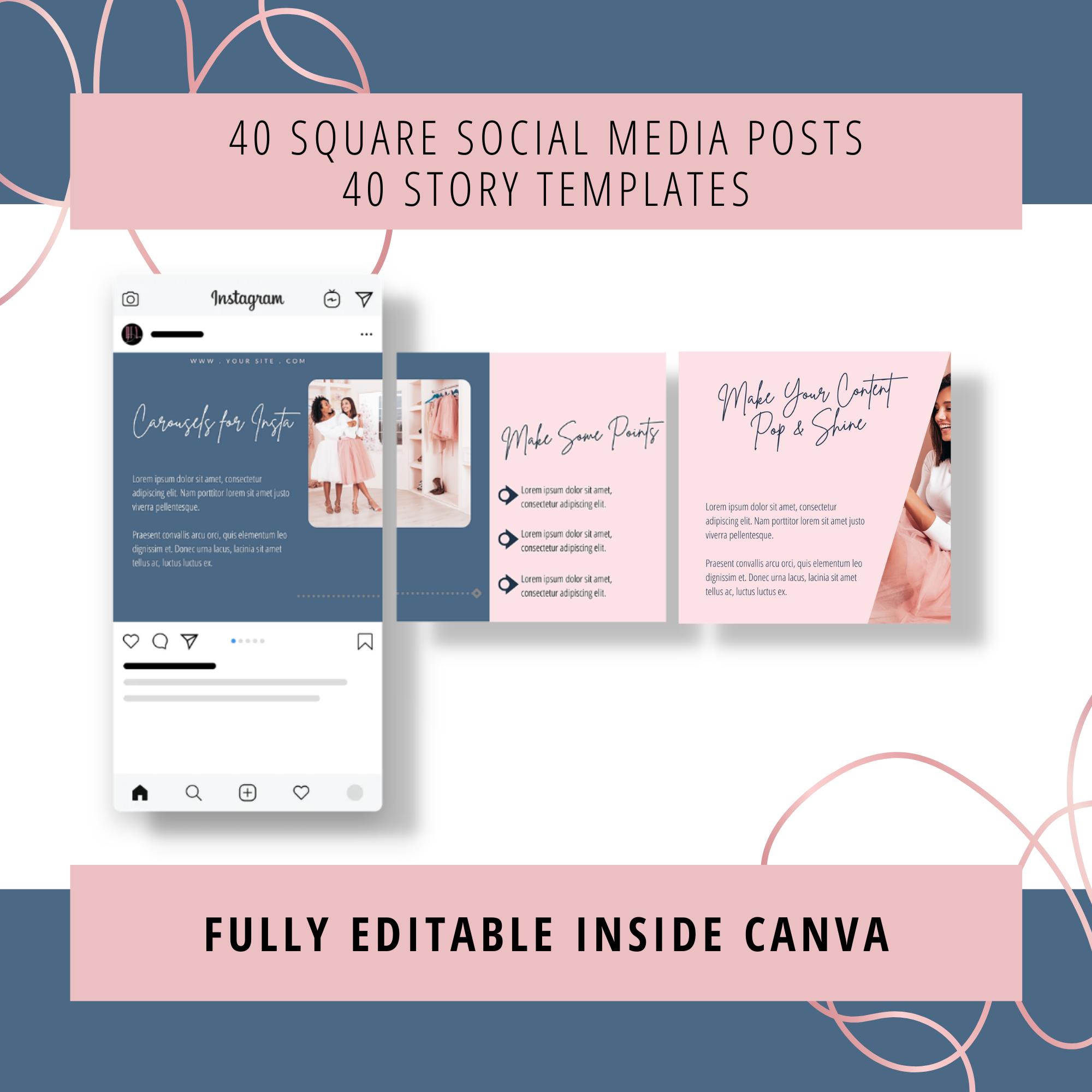 social media canva templates