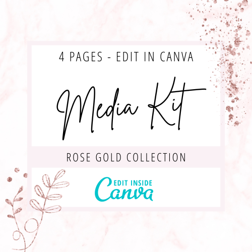 Media kit Canva template