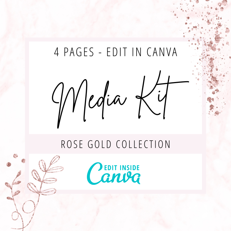 Media kit Canva template