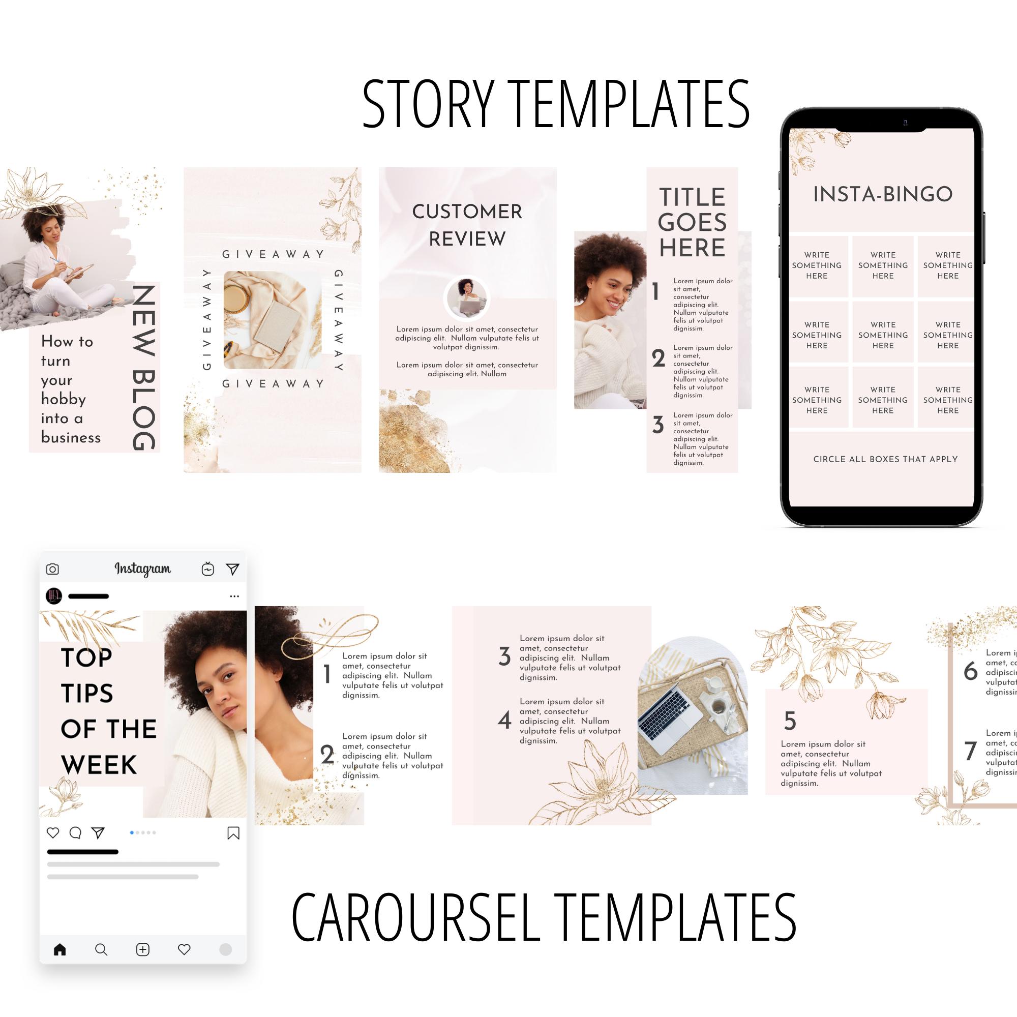 canva carousel templates