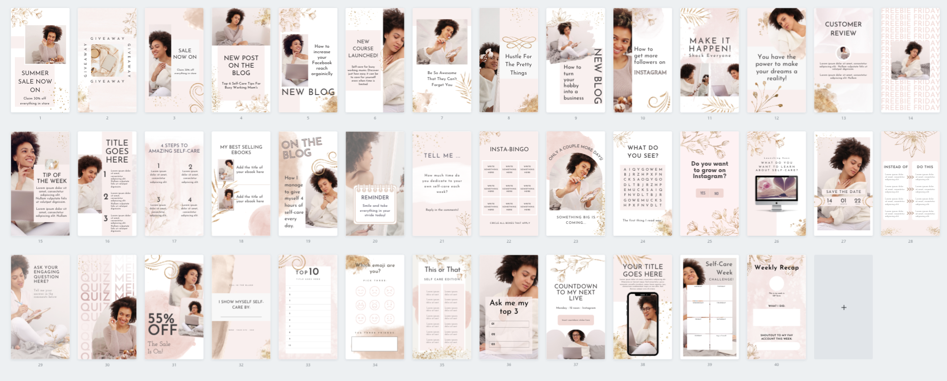 canva story template