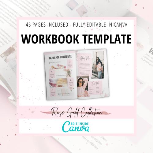 Rose Gold Canva Workbook Template