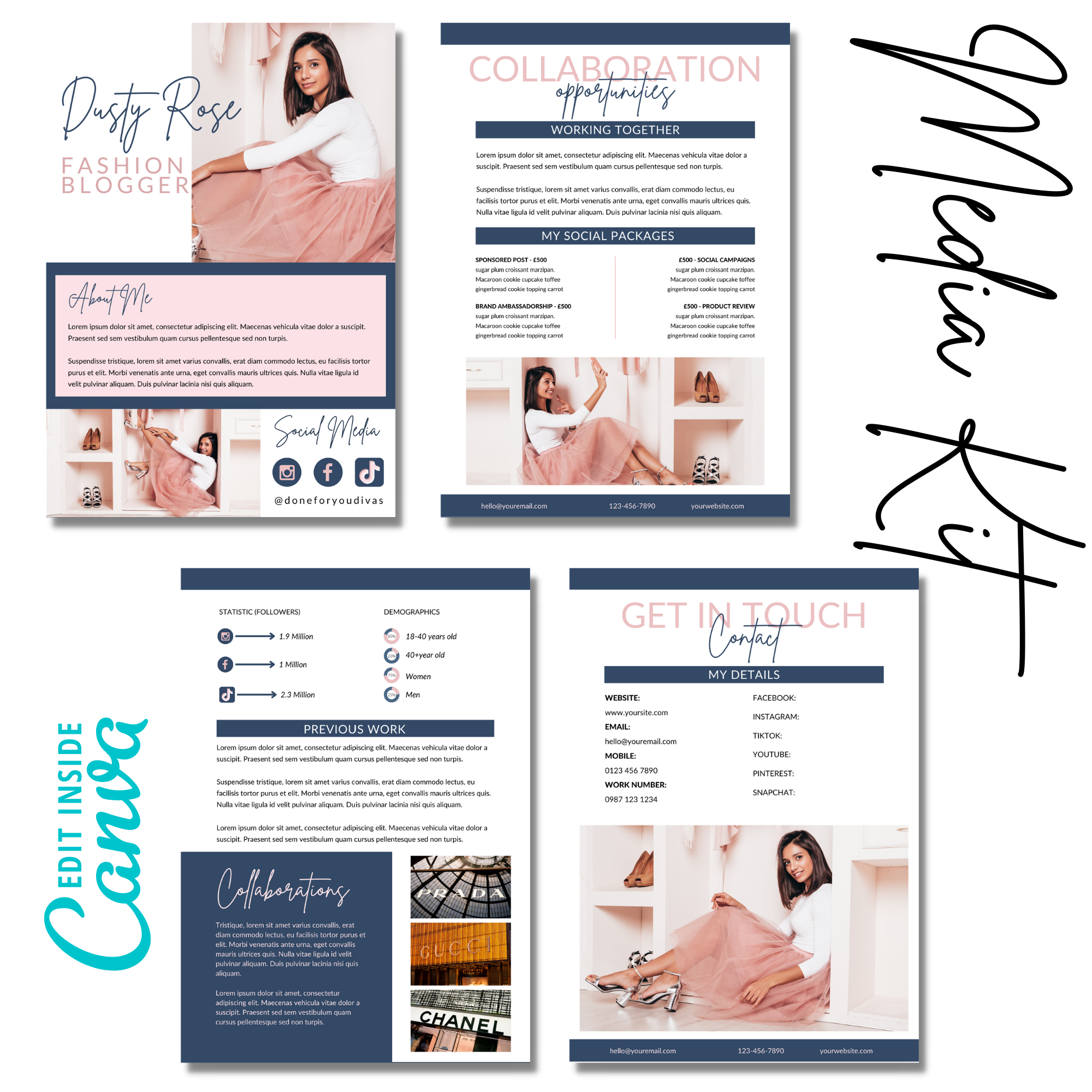 canva templates for influencers