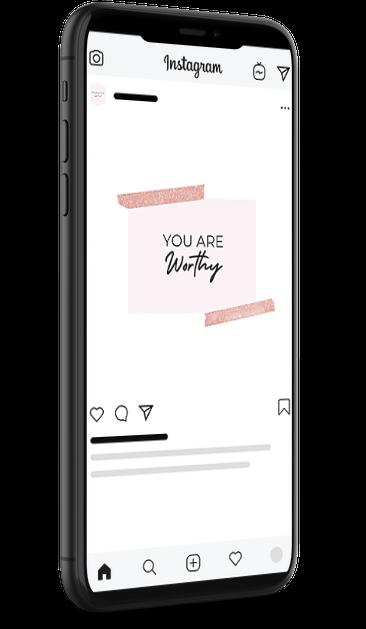 rose gold social media templates